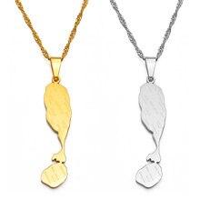 Anniyo são cristóvão e nevis colares são cristóvão e nevis mapas pingente corrente jóias #135421