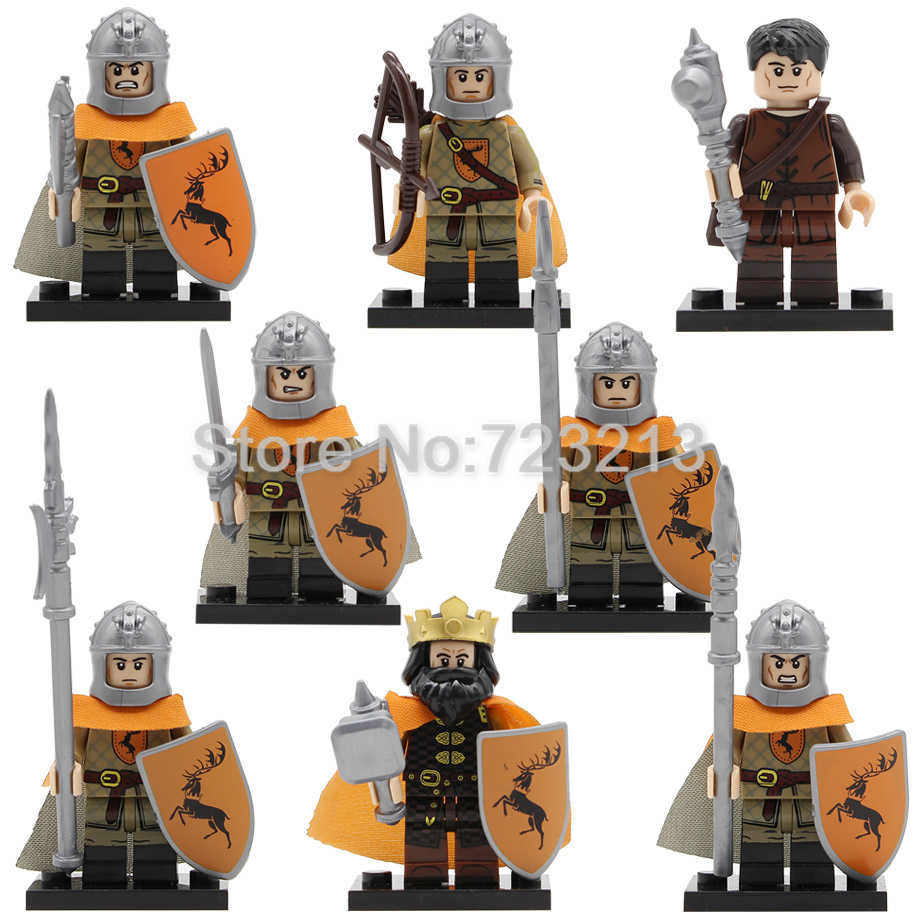 Game of Thrones Figure Baratheon Gendry Spearman Sword Gun Bow Axe infantry Army Armor Building Blocks Bricks Toys Legoing