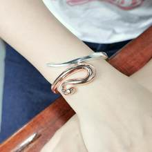 Fashion Alloy Mix color Cuff Bangles For Women Charm Statement Snake Bangles Bracelets Jewelry 2020 Accessories Gift UKMOC(China)