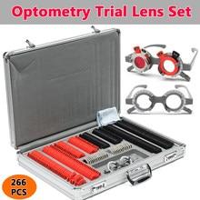 266 pces optometry lente óptica aro caso kit conjunto com optometry teste quadro de teste