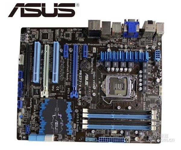 Asus P8Z77-V LE PLUS Desktop Motherboard LGA 1155 DDR3 32GB USB3.0 For I3 I5 I7 CPU Z77 Motherboard