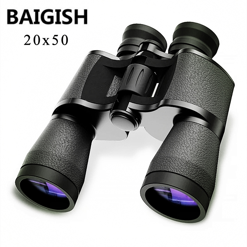Baigish 20x50 Military Binoculars Hd Powerful Spyglass High Clarity Telescope Bak4 Prism Lll Night Vision For Hunting Camping