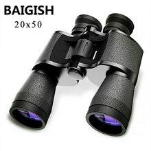 Baigish 20x50 lornetka wojskowa Hd potężny Spyglass wysokiej jasności teleskop Bak4 pryzmat Lll noktowizor do polowania Camping