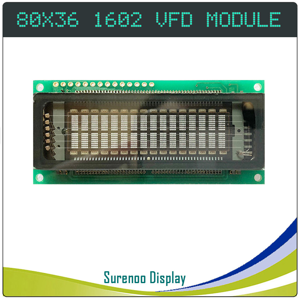1602 16X2 Parallel Serial SPI VFD Display Screen KH162SD01 Compatible With 16T202DA2 M162SD07FA CU16025 162 LCD Module