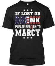 Men T shirt If Lost Or Drunk Return To Marcy Tagless Tee funny t-shirt novelty tshirt women(China)