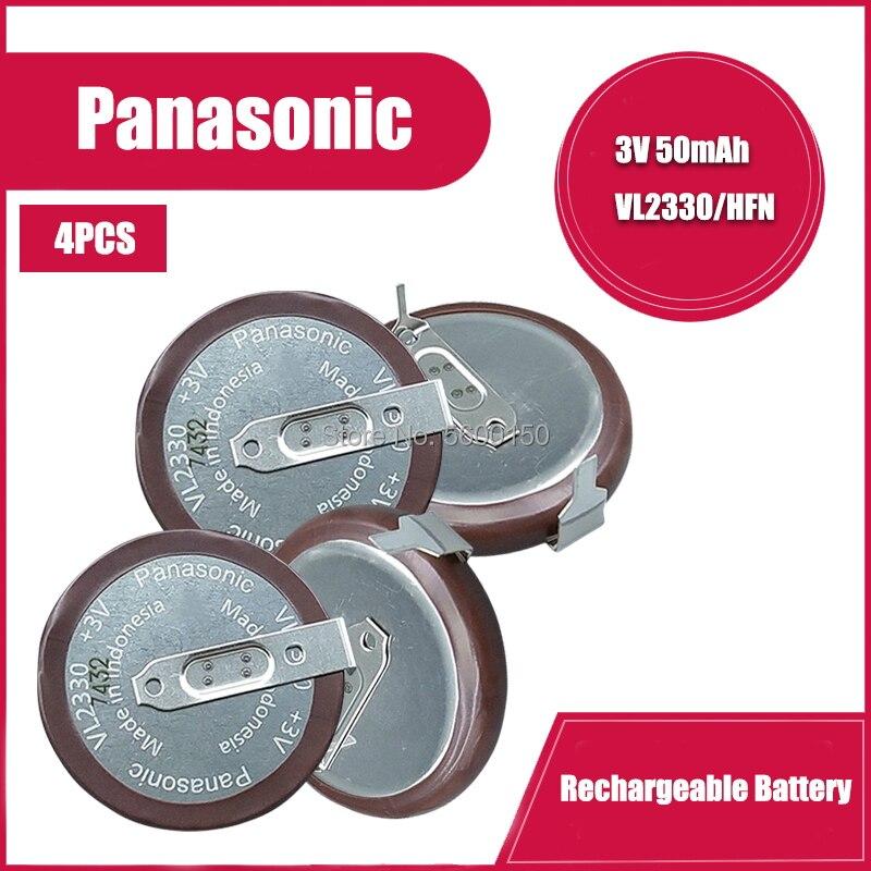 4 шт./лот оригинальный новый для PANASONIC VL2330 2330 перезаряжаемая литиевая батарея монета для автомобиля кнопка