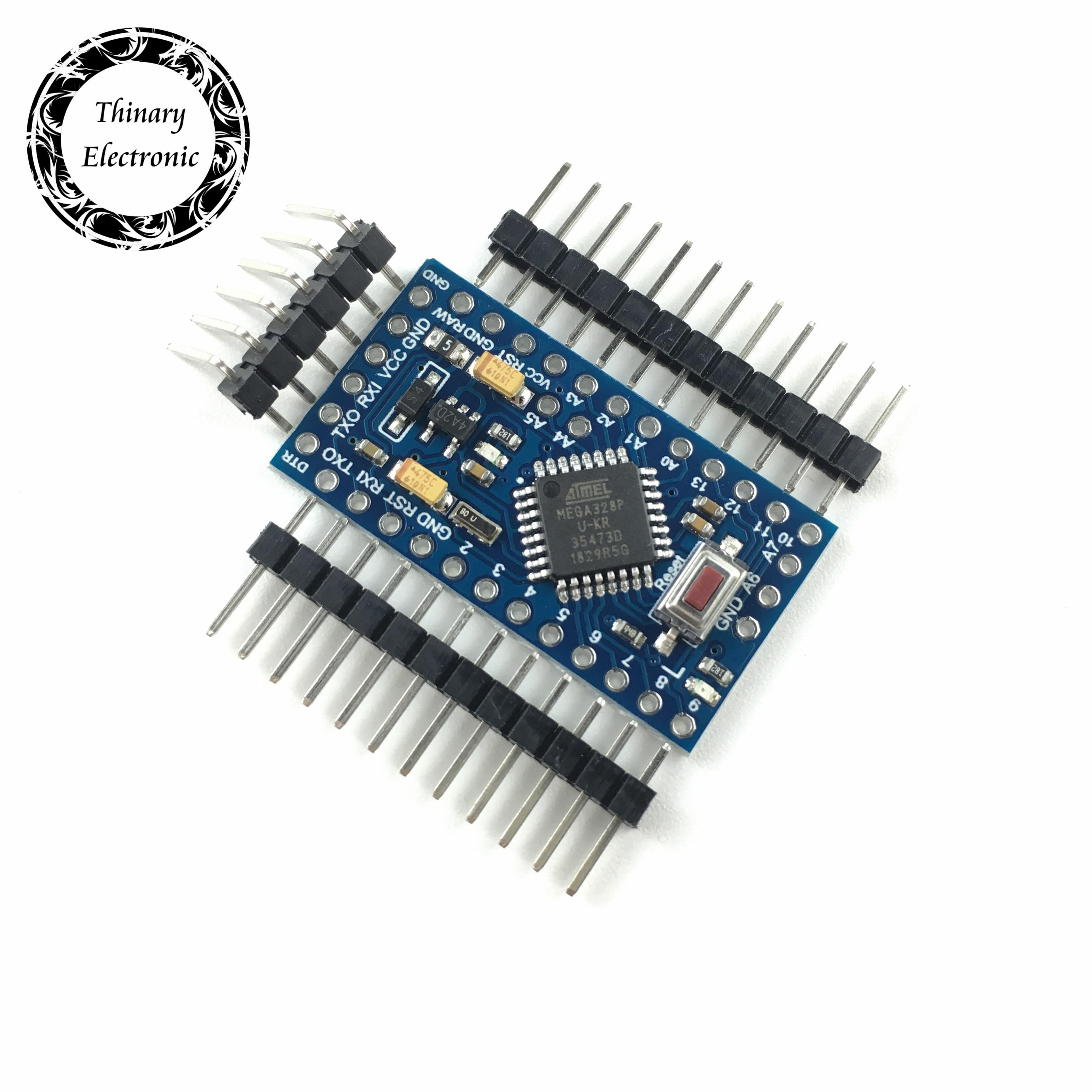 Free shipping 20pcs lot Pro Mini 328 Mini ATMEGA328 ATMEGA328P AU 5V 16MHz for Arduino Pro