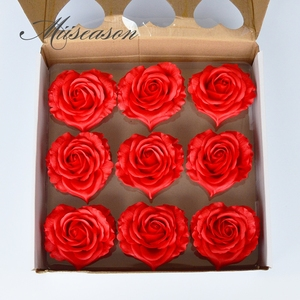 Image 4 - 9pcs Diameter 10cm Cheap Soap Heart shape Rose Heads Wedding Valentines Day Gift Wedding Bouquet Home Decor Hand Flower Art