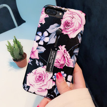 Get more info on the Rose Floral Phone Mobile Case for Apple iPhone 6 6s 6plus 7 7plus 8 8plus X XS Max XR Black Back Cover Red Pink Flower Case