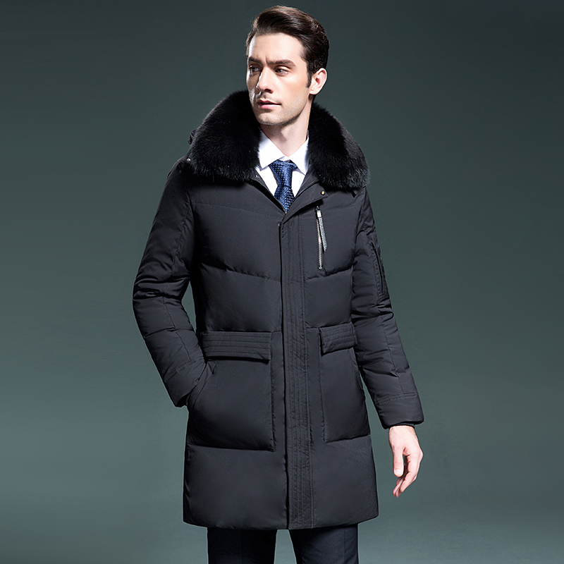Winter Duck Down Jacket Men Clothes 2020 Long Coat Fox Fur Collar Korean Parka Men Fashions Doudoune Homme 8799 KJ3049