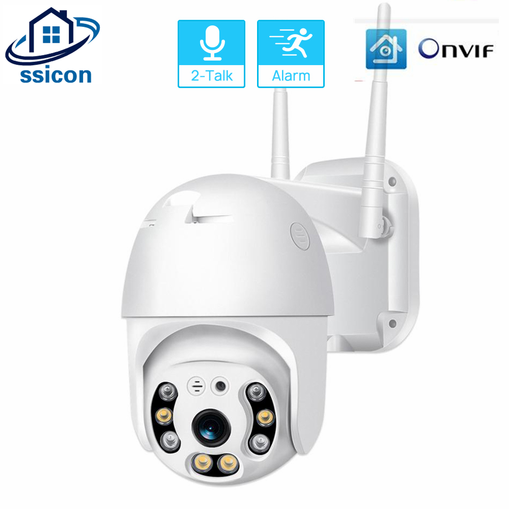 SSICON 1080P WIFI Camera Outdoor ONVIF Two Ways AUDIO ICSee APP 2MP Waterproof IP Camera Night Vision Max Support 128G SD Card