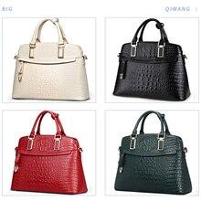 2019 Qiwang 本革女性の黒のバッグ エレガントなトップハンドルバッグ女性デザイナーブランドのハンドバッグ