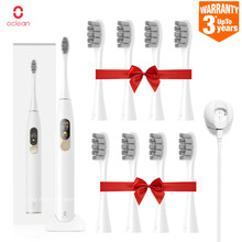 Global Version Xiaomi Oclean X Sonic Electric Toothbrush 8Pcs Heads Waterproof Ultrasonic Fast Charging Color Screen Tooth Brush