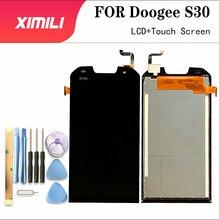 5.0 بوصة ل Doogee S30 شاشة الكريستال السائل و مجموعة المحولات الرقمية لشاشة تعمل بلمس استبدال ل Doogee S30 + أدوات + لاصق