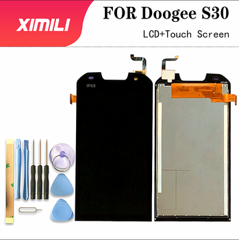 цена на 5.0 Inch For Doogee S30 LCD Display and Touch Screen  Digitizer Assembly Replacement For Doogee S30+Tools+Adhesive