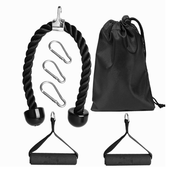 GRT Fitness 7pcs-Muscle-Strength-Training-Attachment-Biceps-Triceps-Pull-Rope-Home-Gym-Exercise-Workout-Fitness-Equipment.jpg_350x350 7pcs Muscle Strength Attachment Kit For Home Exercise or Workout
