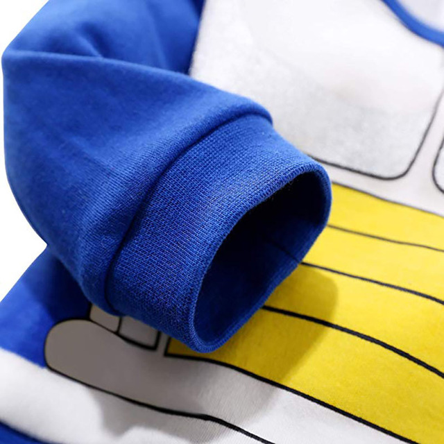Barboteuse 100% coton costume Dragon Ball Z pour bébé garçon,combinaison à manches longues DBZ pour nouveau-né, déguisement d'Halloween, 4