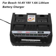 14.4V 18V Battery Charger For Bosch 1.6A Lithium Battery Adapter Dual Usb Charger UK/EU/US Plug Power Tool Replacement US Plug 3 7v 1500mah battery with battery charger eu plug power adapter set for htc desire z