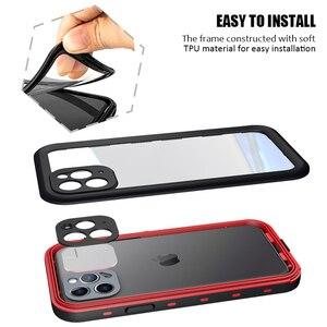 Image 5 - Odporny na wstrząsy podwodny futerał na iPhone 11 Pro Case wodoodporny pyłoszczelny silikonowy pokrowiec na iPhone 11 Pro Max etui na telefon