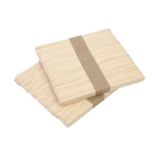 100 piezas de madera Natural palos de artesanía de colores de madera palos de artesanía para helado Material de manualidades DIY