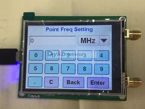 Image 2 - 35 4400M ADF4351 ADF4350 RF signal source Signal generator wave / Point frequency sweep touch screen LCD display control