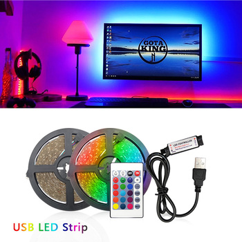 5V USB LED Strip Light 1M 2M Ice blue / Warm White / White / RGB 2835 TV Background Lighting Christmas Decoracion Fairy Lights image