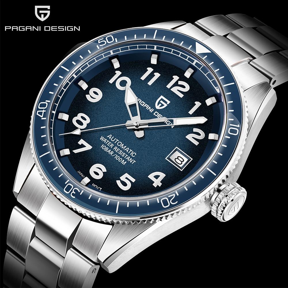 PAGANI DESIGN 2020 Fashion New Men Watch Brand Luxury Waterproof Watch Sports Business Watch Men Stainless Steel Automatic Watch
