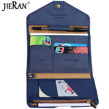 PU Passport Cover Hasp Travel Passport Holder Foldable Credit Card Holder Money Wallet Multifunction Flight License Purse Bag(China)