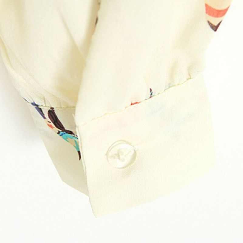 Thời Trang Nữ Họa Tiết Áo Casual Vintage Lcee Lên Nữ Đúc Cao Cấp
