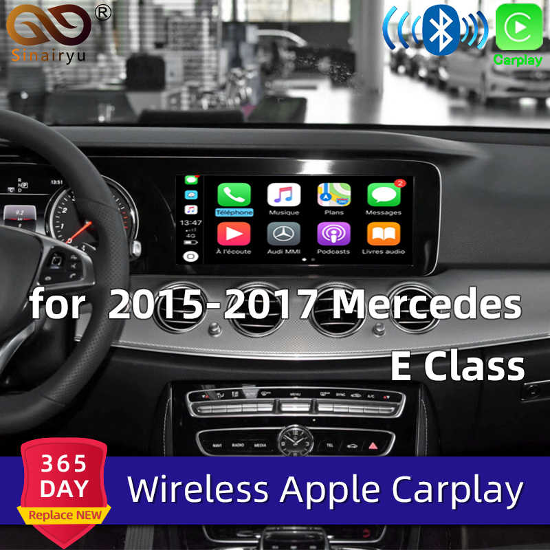 Sinairyu アフターマーケットワイヤレス Apple CarPlay レトロフィットためメルセデス E クラス OEM W212 15-19 NTG5 車再生とリアリアビューカメラ