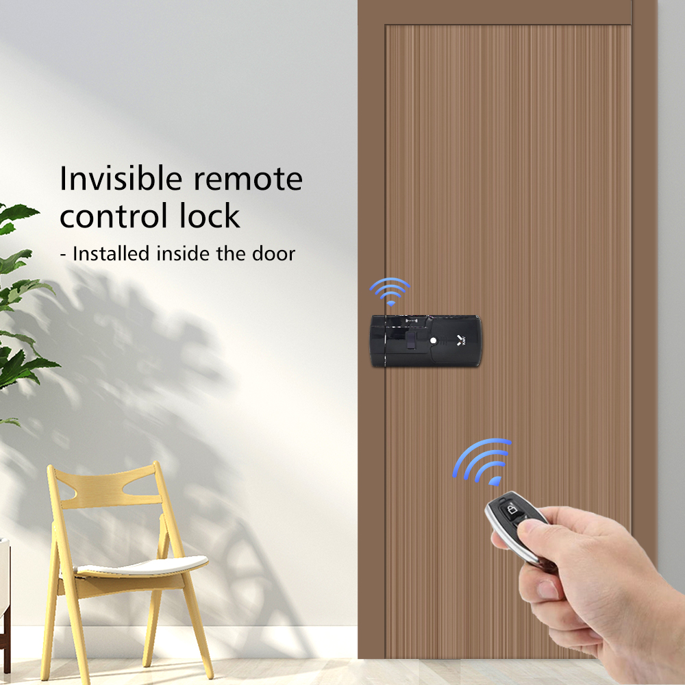 WAFU Smart Invisible Lock 011A  Electric Door Lock Wireless Remote Control  Anti-thief Keyless Electronic Smart Door Lock