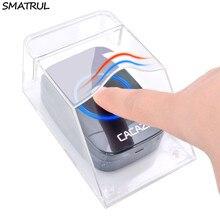 SMATRUL Waterproof cover Wireless Doorbell smart Door Bell ring chime button Tra