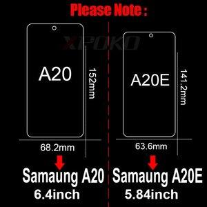 Image 5 - 3 sztuk szkło hartowane dla Samsung Galaxy A20 A30 A40 A70 A50 A20E folia na wyświetlacz 9H 2.5D szkło na Samsung J4 J6 Plus A7 A9 2018