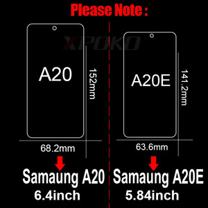 Image 5 - 3Pcs Tempered Glass For Samsung Galaxy A20 A30 A40 A70 A50 A20E Screen Protector 9H 2.5D Glass on Samsung J4 J6 Plus A7 A9 2018