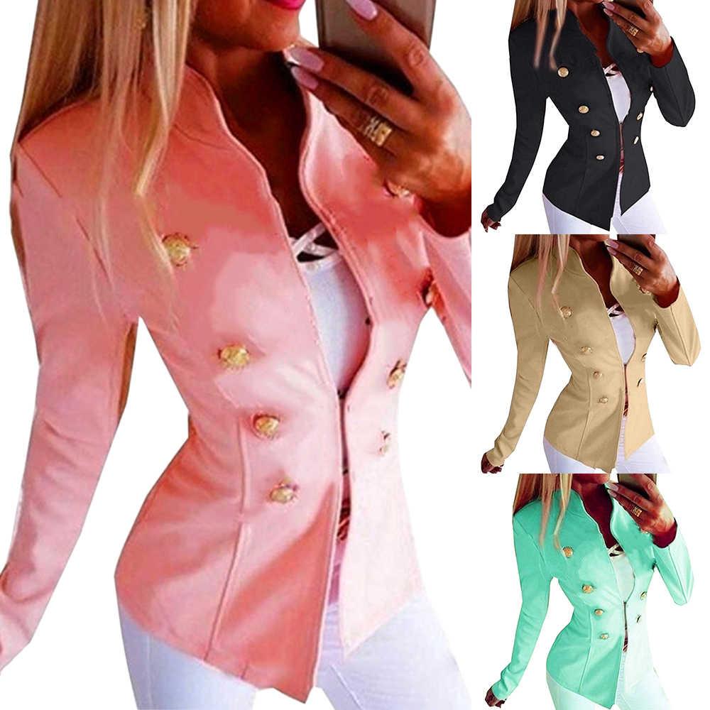 Женский приталенный Блейзер, умный Повседневный блейзер с длинными рукавами, офисный винтажный Готический большой размер, Женская куртка, осенние пальто для женщин