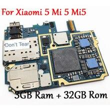 Протестированная Полная работа оригинальная разблокированная материнская плата для Xiao mi 5 mi 5 mi 5 M5 3GB+ 32GB материнская плата с глобальной прошивкой