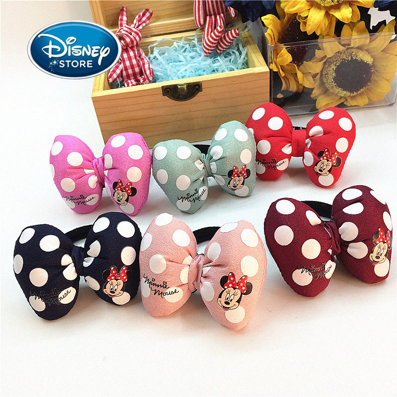 Disney Mickey Mouse Minnie Hairpin Hair Ring 8 Pcs/set Women Girl Hair Clip BB Hairpins Barrettes Hair Holder Styling Accessorie