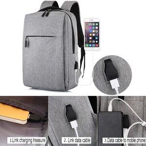 Image 3 - USB Backpack Mens School Bag Rucksack Anti Theft Men Backbag Travel Daypacks Male Leisure Backpack Mochila Women Girl Bag