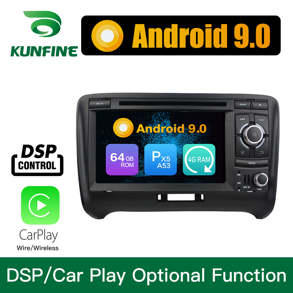 Android 9.0 Octa Core 4GB RAM 64GB ROM Car DVD GPS Navigation Multimedia Player Car Stereo for Audi TT 2006 2013 headunit radio
