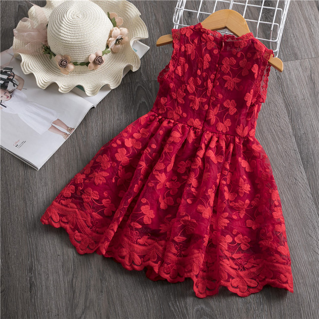 Girls Dress 2019 New Summer Brand Girls Clothes Lace And Ball Design Baby Girls Dress Party Dress For 3-8 Years Infant Dresses 5