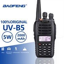 Baofeng UV-B5 walkie talkie nova venda quente uv b5 dupla banda vhf 136-174mhz & uhf 400-470 mhz mini pequeno tela lcd uvb5 rádio em dois sentidos