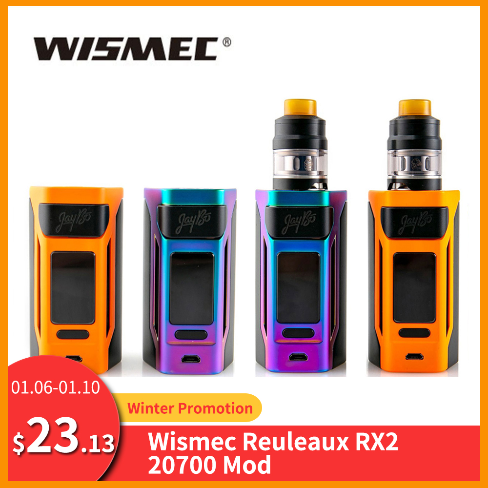 [RU/ES] Original Wismec Reuleaux RX2 20700 TC Box Mod/RX2 20700 Kit 4ml Output 200W VW/TC/TCR Mode VS Gen3 Dual Vape Mod E-Cig