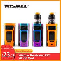 [RU/ES] Original Wismec Reuleaux RX2 20700 TC caja Mod/RX2 20700 Kit 4ml salida 200W VW/TC/TCR modo del Gen3 Dual Vape Mod E-Cig