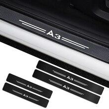 4 piezas para Audi A3 8P 8V 8L A4 B5 B6 B7 B8 B9 A5 A6 C6 C5 C7 A1 A7 A8 Q2 Q3 Q5 Q7 TT auto alféizares de puerta guardias pegatinas Accesorios