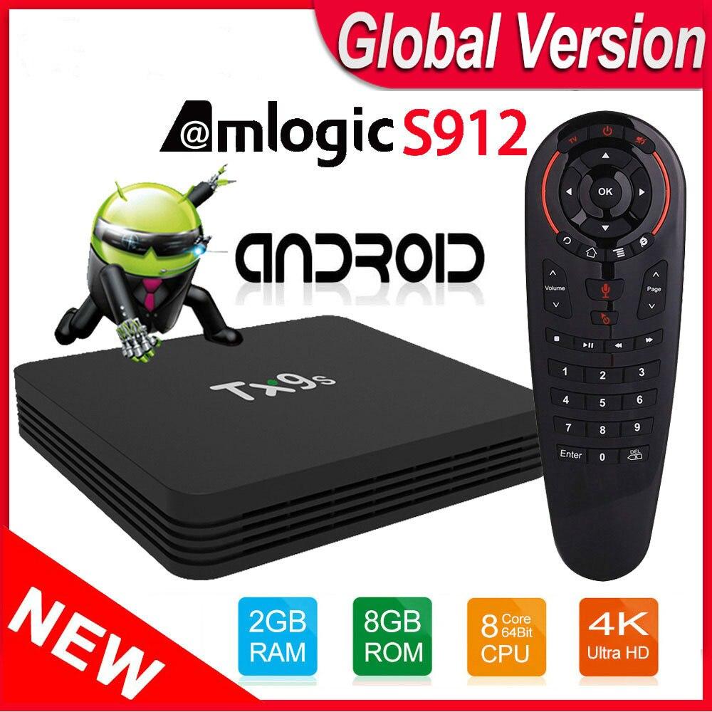 ТВ приставка Android TX9S TVbox Amlogic S912 Восьмиядерный 2 ГБ 8 ГБ 4K 60fps смарт приставка 2,4 ГГц Wifi Поддержка Youtube Google Playstore|ТВ-приставки и медиаплееры|   | АлиЭкспресс