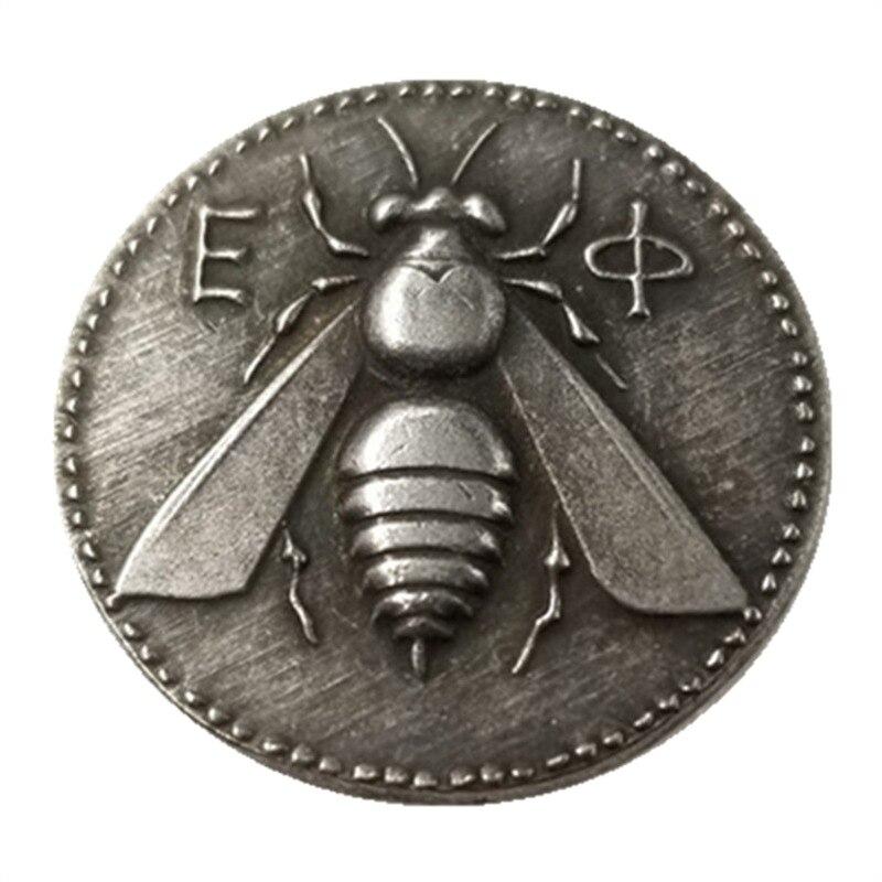 곤충 사슴 그리스 동전 동전 기념 동전 외국 동전 골동품