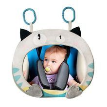 Car Baby Rearview Mirror Wide View Rear Adjustable Safety Seat Back Mirrors Infants Cartoon Toys