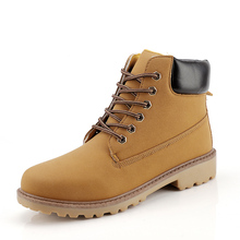 Yellow Leather Ankle Boots Men Timber Casual Shoes 2020 land Motorcycle Waterproof Bot Winter Big Size