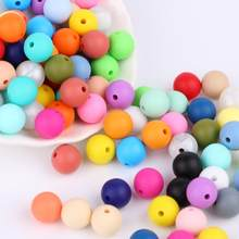 TYRY.HU Silicone Beads 100Pcs BPA Free 9/12/15/19mm Silicone Teething Round Beads For Necklace Pacifier Chain Baby Teether Beads(China)