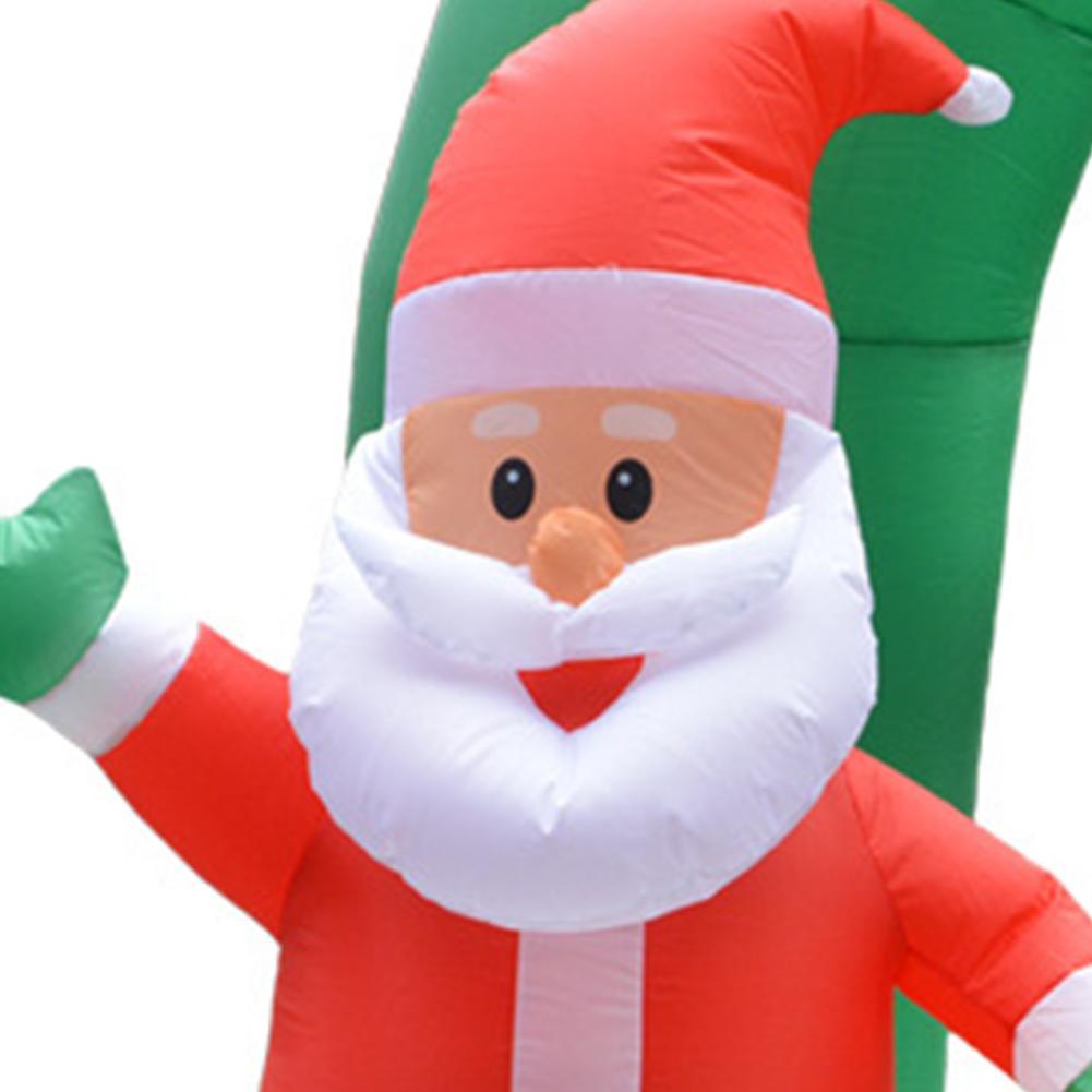 1.6m Kerstman Schoorsteen Opblaasbare Speelgoed Buiten Xmas Decor Boog Ornament - 4